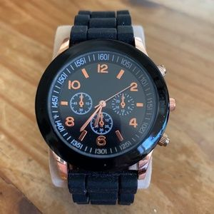 LIKE NEW! Men's Black/Rose Gold Watch